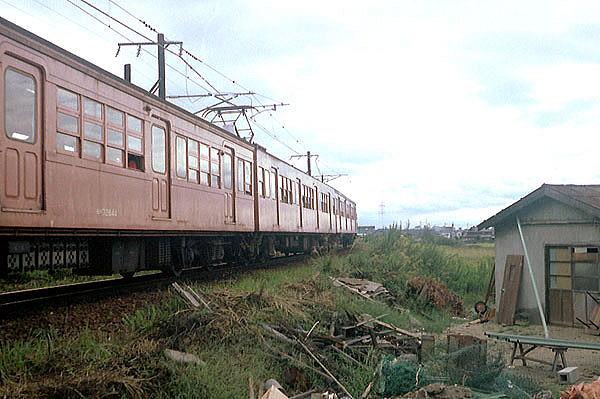 モハ72 644 忍ヶ丘駅付近(地平時代)
