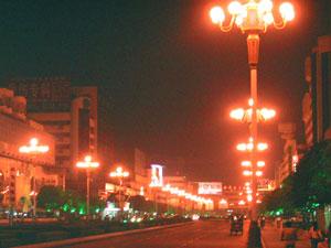 桂林の街路灯