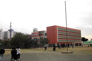 中国の中学校校庭