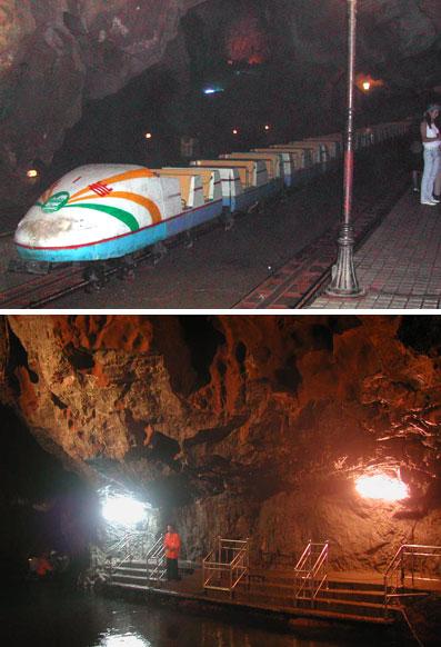桂林冠岩内列車