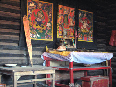 ナシ族の祭壇