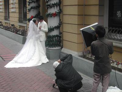 中国の結婚写真