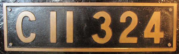 C11 324  ナンバープレート