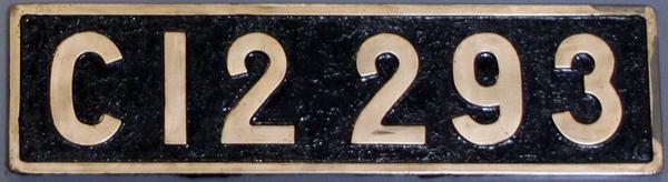 C12 293 ナンバープレート