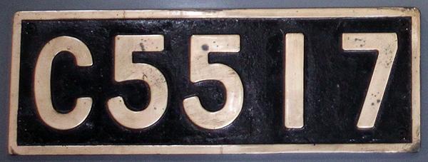 機関車ナンバープレート