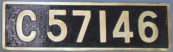 C57 146 ナンバープレート