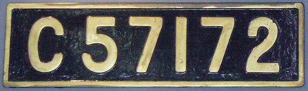 C57 172 ナンバープレート
