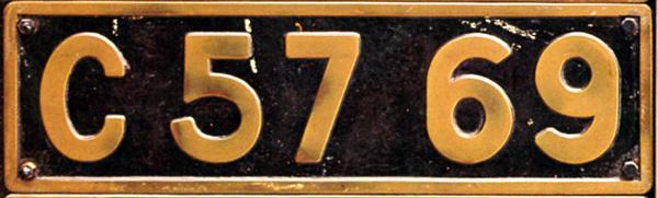 C57 69 ナンバープレート
