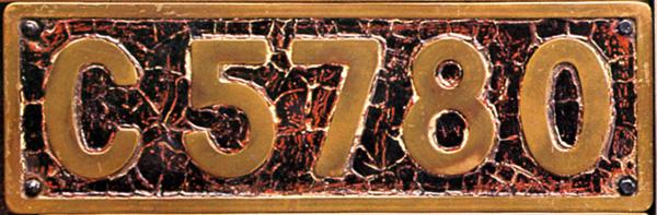 C57 80  ナンバープレート