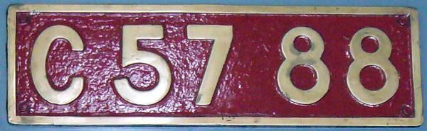 C57 88 ナンバープレート