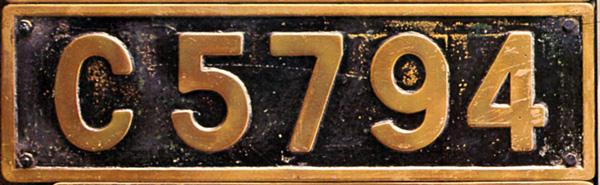 C57 94  ナンバープレート