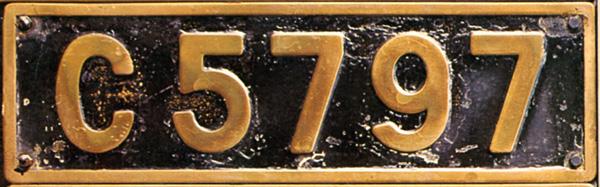 C57 97  ナンバープレート