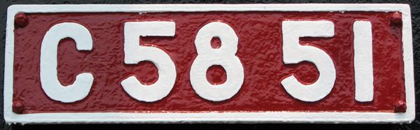 C58 51 ナンバープレート