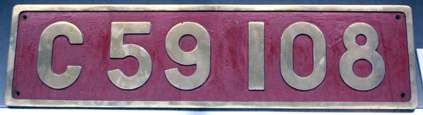 C59 108  ナンバープレート