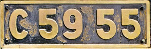 C59 55  ナンバープレート