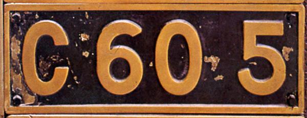 C60 5  ナンバープレート