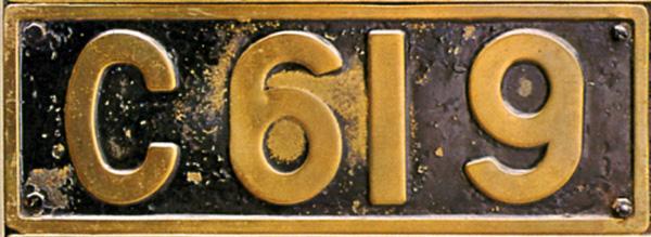 C61 9  ナンバープレート