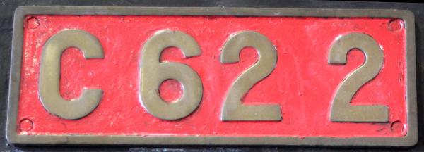 C62 2  ナンバープレート