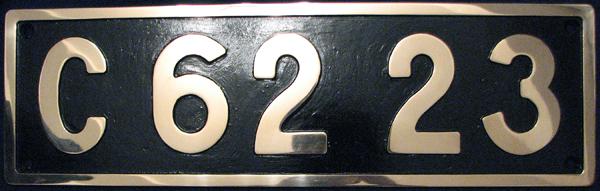 C62 23 ナンバープレート