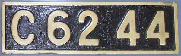 C62 44 ナンバープレート