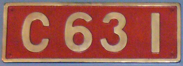 C63 1 ナンバープレート
