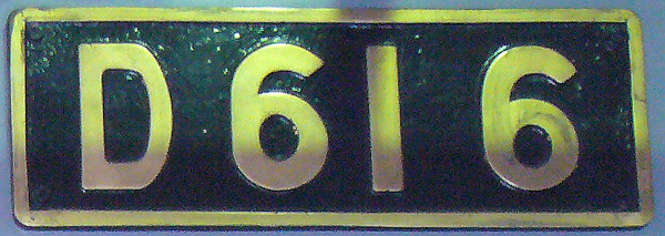 D61 6 ナンバープレート